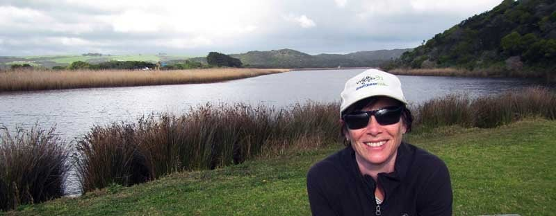 nancy on the Great Ocean Walk at Gellibrand River Port Campbellsmall