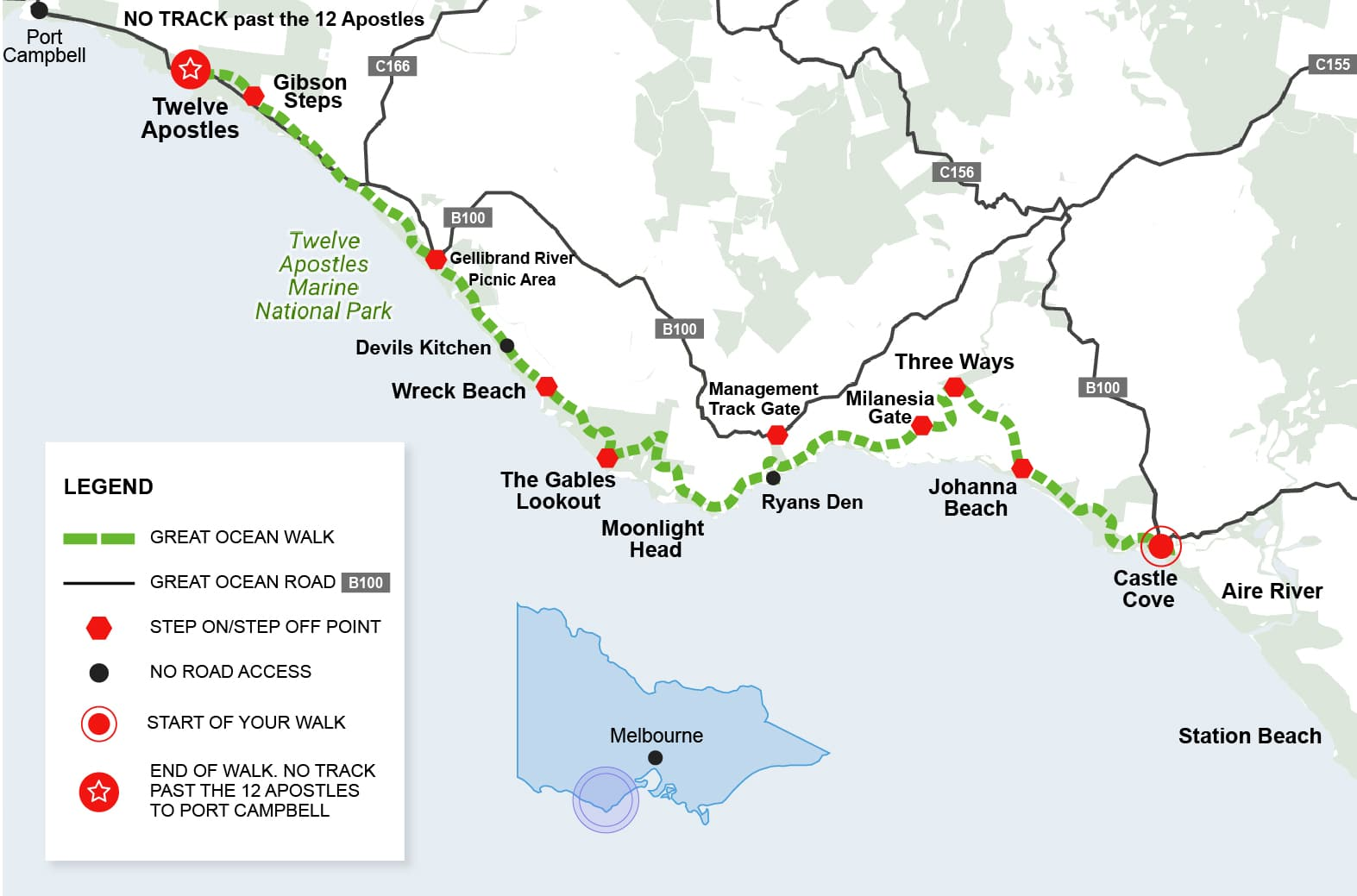 Great Ocean Walk Map 3 Day Great Ocean Walk Tour | 12 Apostles Walk