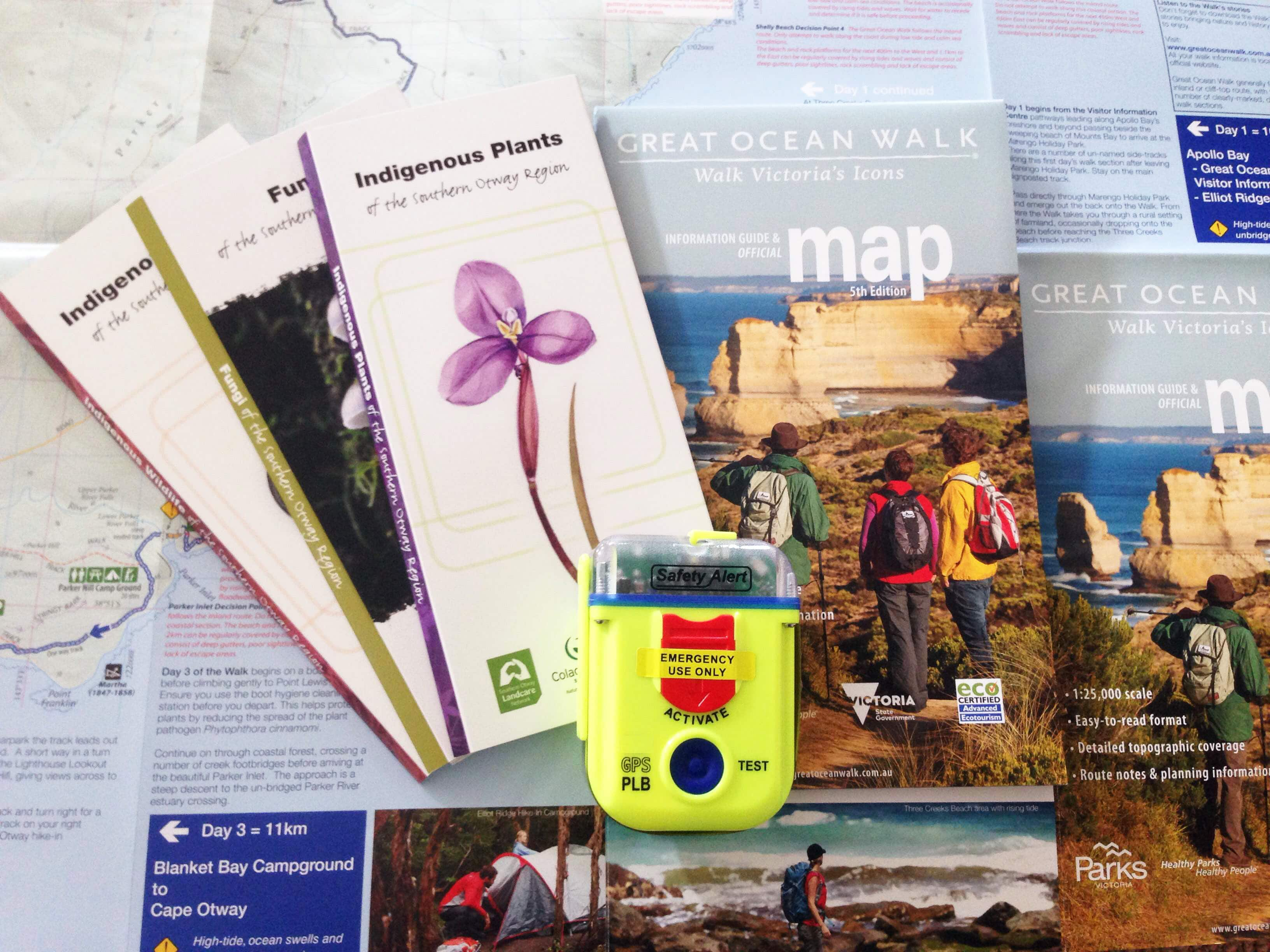 Maps and epirb and landcare laminates